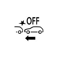 (Afhængigt af køretøjet) Indikator for fejl eller manglende adgang til aktiv nødbremsning