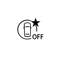(Afhængigt af køretøjet) kontrollampe for fejl eller manglende adgang til aktiv nødbremsning