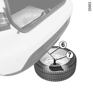 e guide renault com ny clio vedligehold din bil d k punktering reservehjul. Black Bedroom Furniture Sets. Home Design Ideas